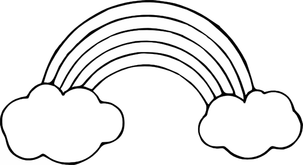 jpg library library Rainbow clipart cliparts clip. Drawing rainbows black and white