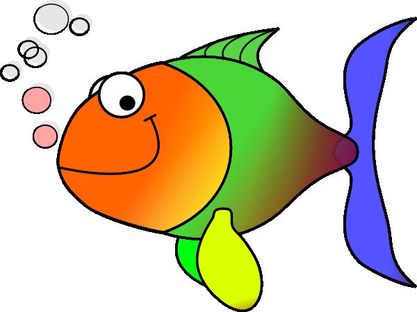clipart stock Rainbow Fish Cartoon Clipart