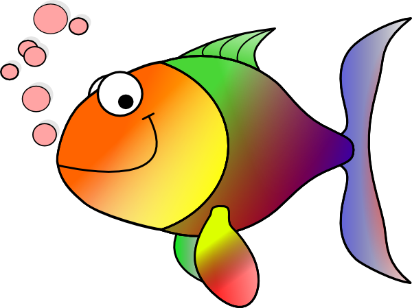 clipart free stock Rainbow Fish Clip Art at Clker