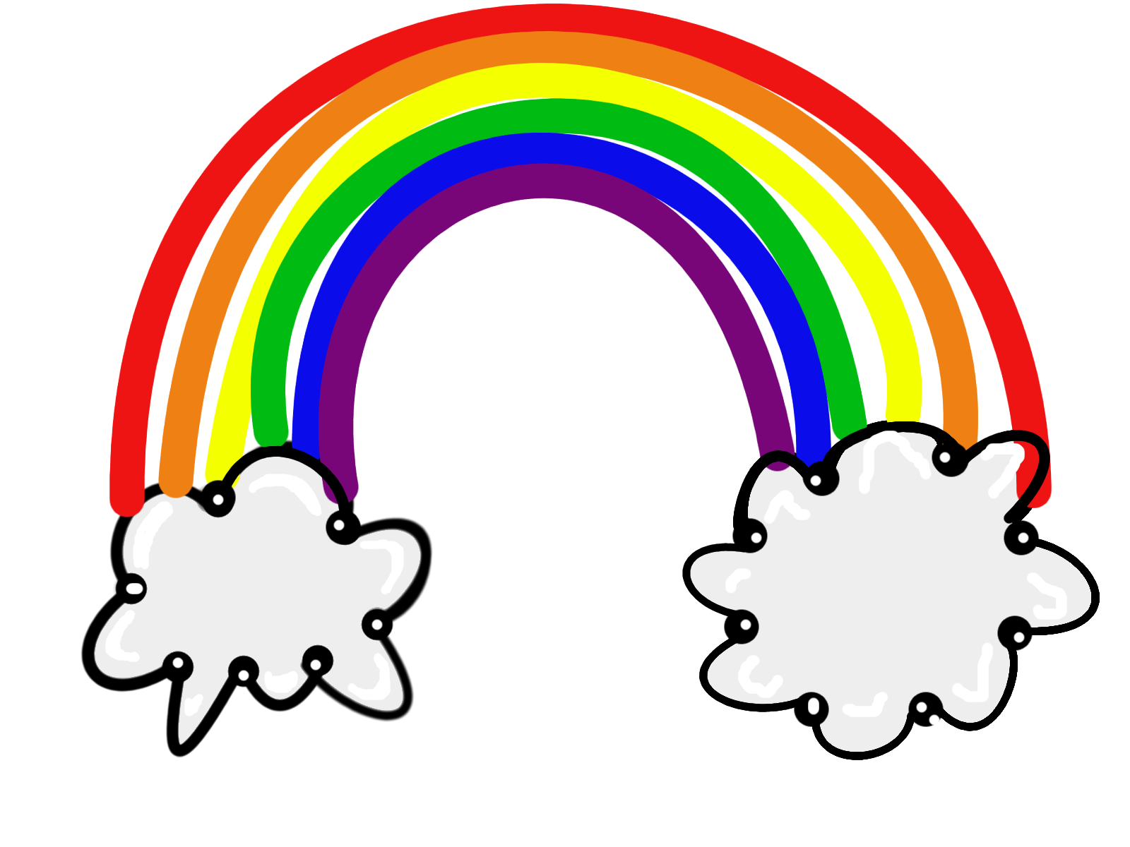 clip royalty free library Rainbow clipart for kids. Free cliparts download clip