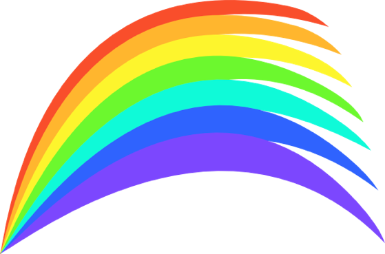 freeuse download Rainbow clipart for kids. Panda free images rainbowclipartforkids