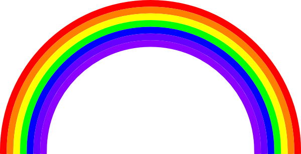 picture library library Rainbow clipart free at. Drawing rainbows