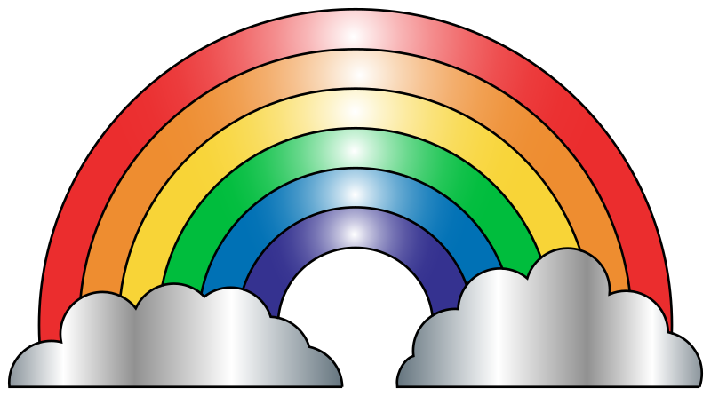 vector royalty free download rainbow clipart free download #63629239