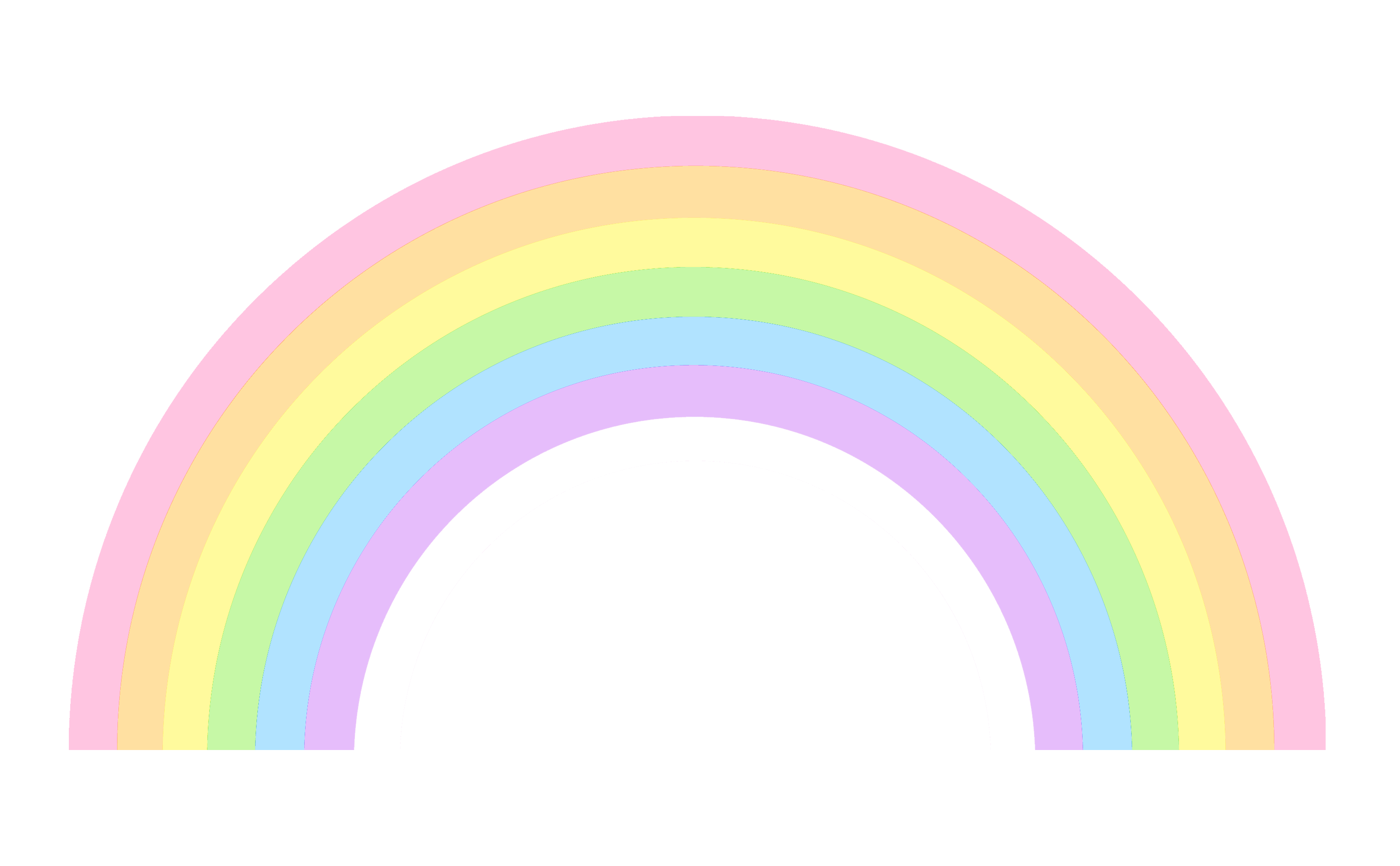 png free Cute rainbow clip art. Drawing rainbows pastel