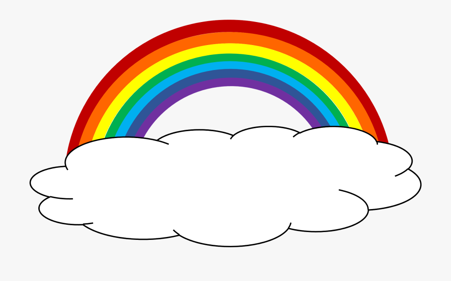 picture library library Color cloud party pinterest. Rainbow clipart