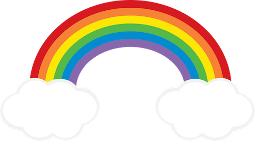 clip freeuse stock Rainbow Cloud clipart FREEBIE from GO Designs at