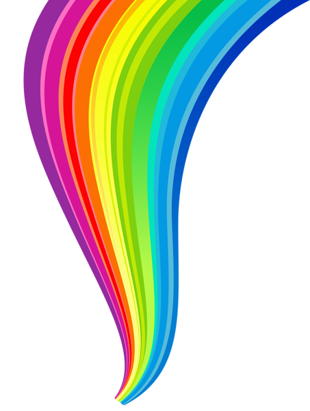 clipart library stock Rainbow Line Transparent Clipart