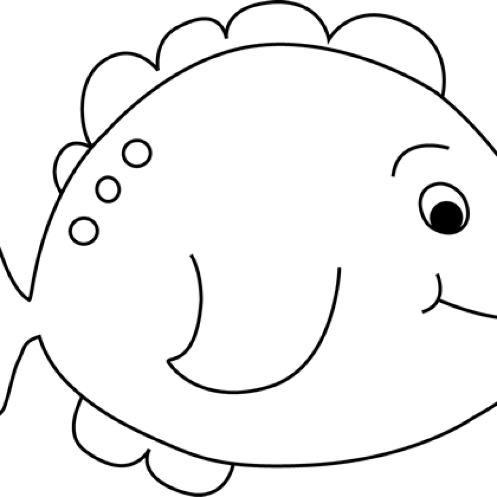 clip art black and white library Rainbow fish clipart black and white. Pineapple hatenylo com little