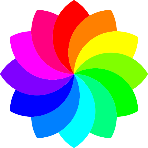 royalty free rainbow flower clipart #63196756