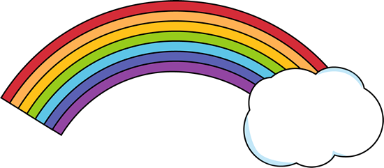vector royalty free download Rainbow With Clouds Clipart
