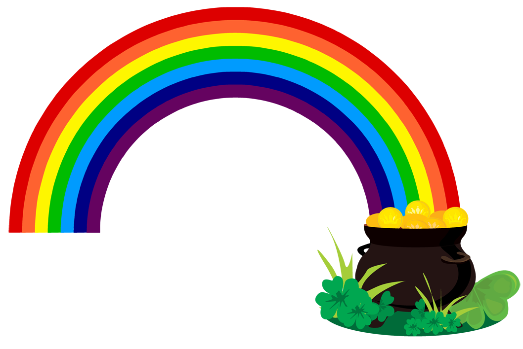clipart free library Rainbow Pot Of Gold Clipart