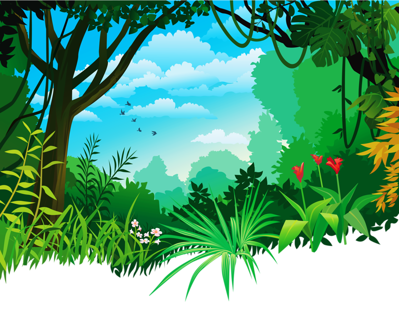 clip free vector jungle background #118188240