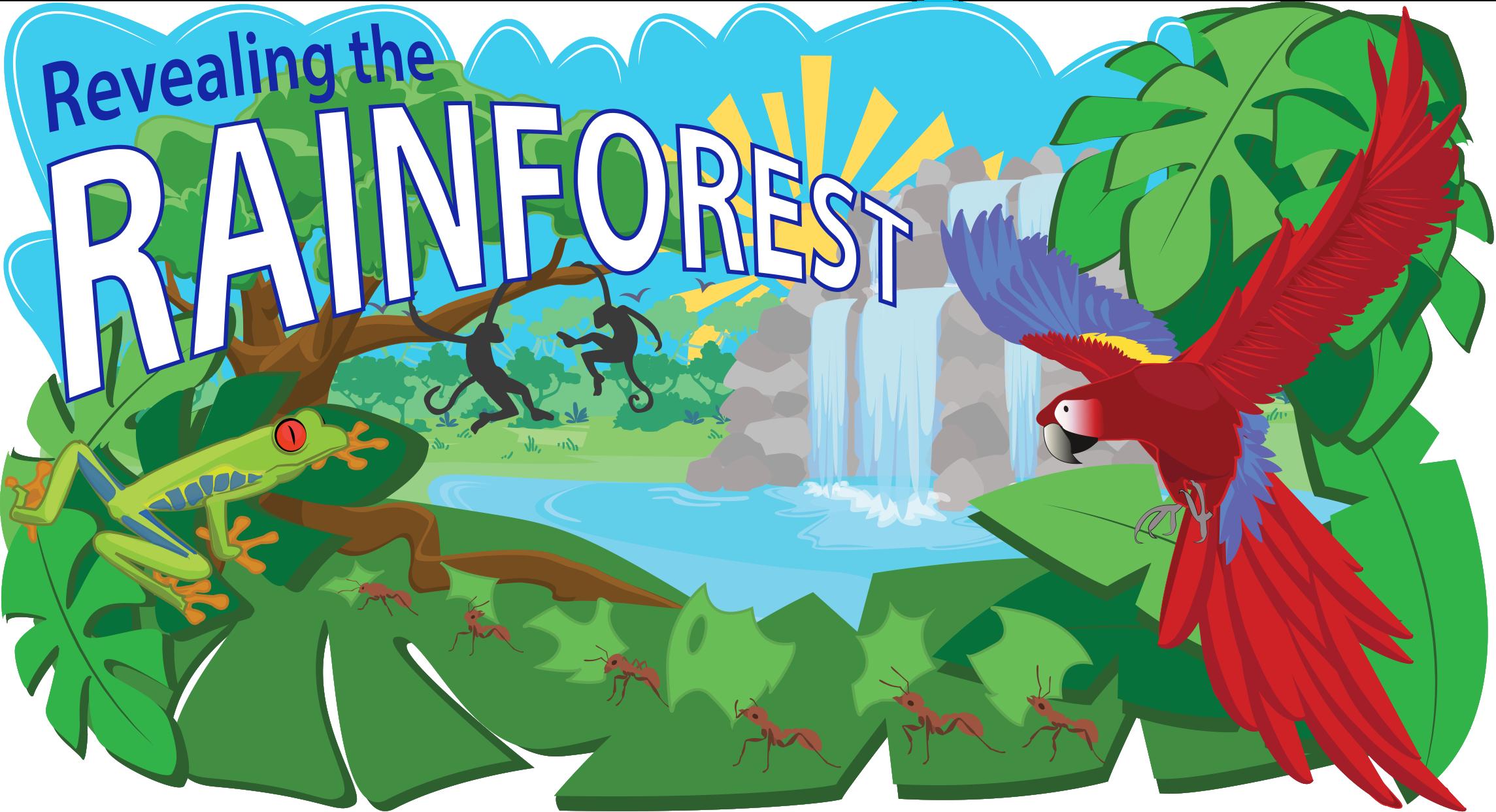 svg stock Tropical header clip art. Rainforest clipart.