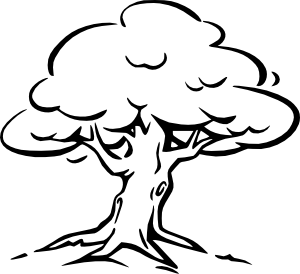 svg free stock Tree Outline Clip Art at Clker