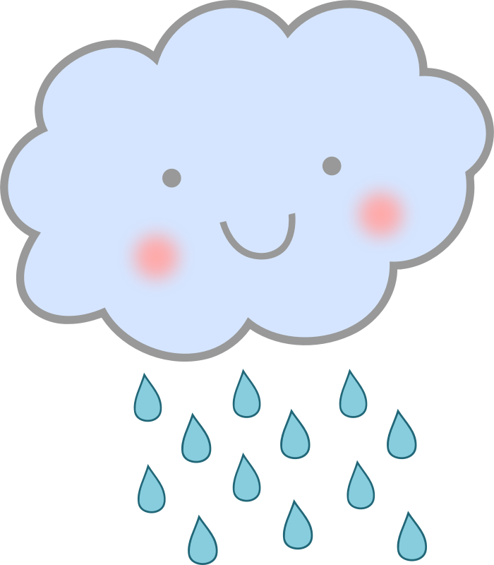 svg royalty free download Raining clipart. Cloud and rain cute.