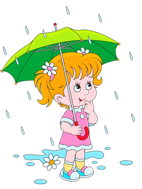banner royalty free download Beautiful idea rain personnages. Raining clipart.
