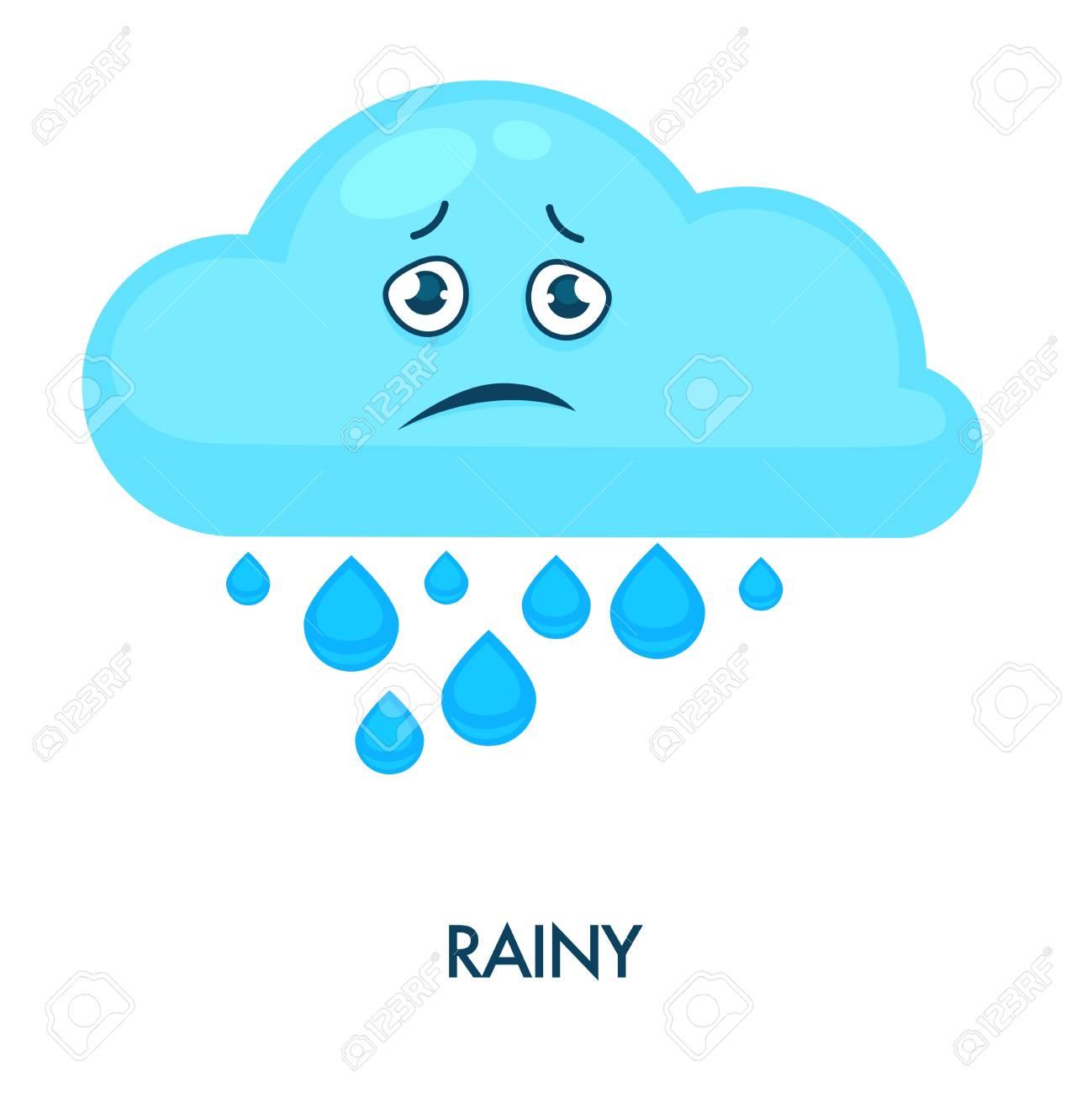 vector transparent Rainy cloud with heavy. Raining clipart face