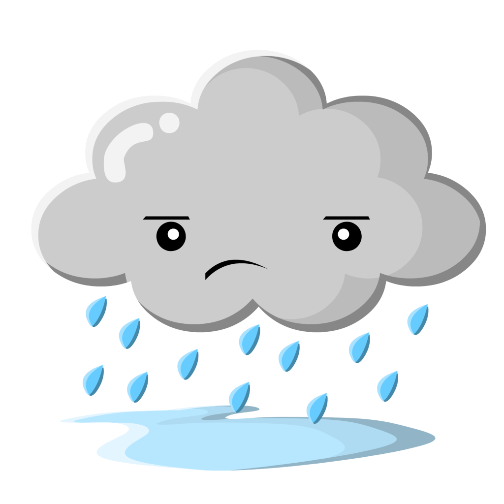 banner black and white Raining clipart face.  collection of sad