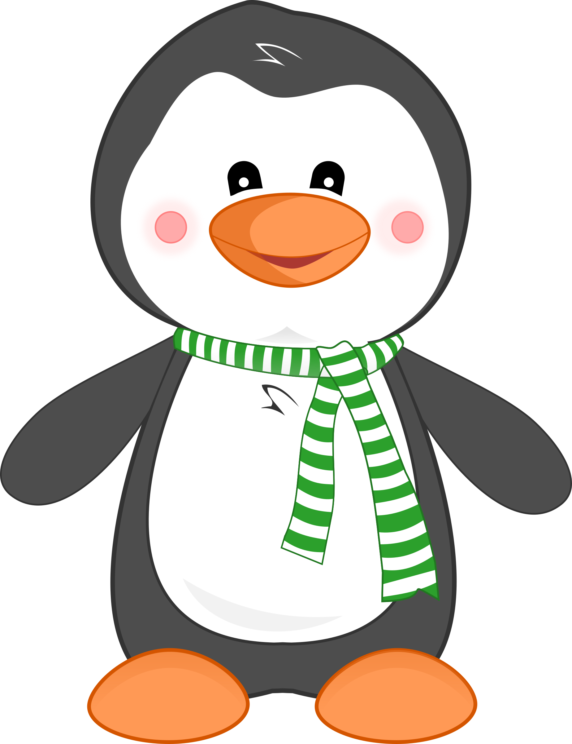 vector library Rain Clipart penguin