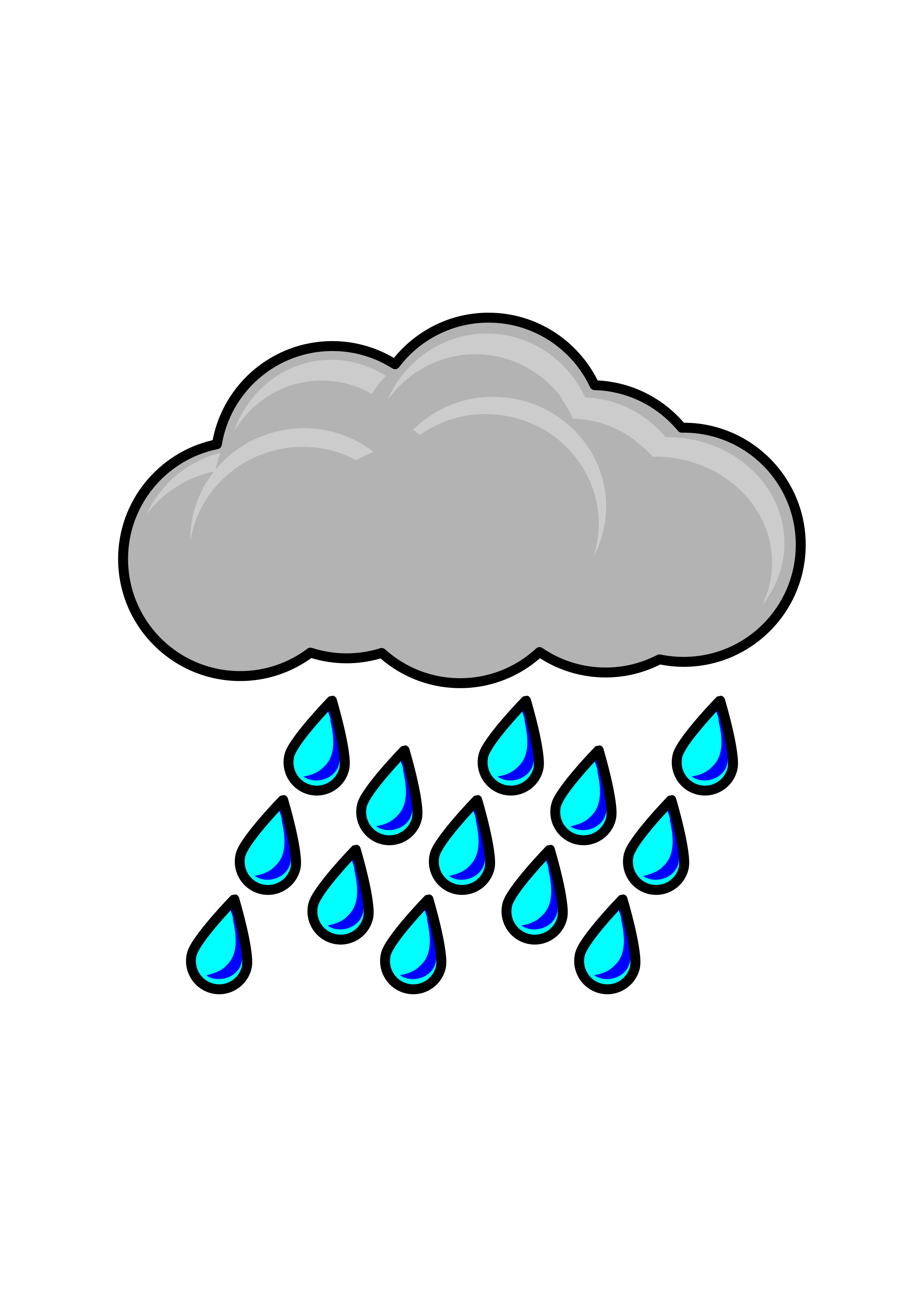 vector freeuse library Raincloud big image png. Black and white raindrop clipart