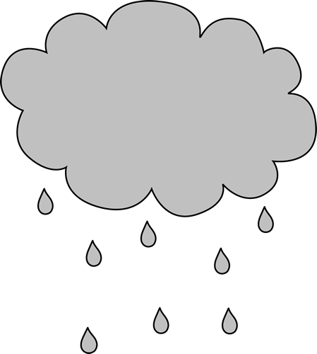 clip transparent Raining clipart. Cloud with rain outlne.