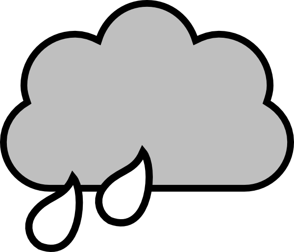 picture transparent stock Rain cloud clip art. Raindrop clipart black and white