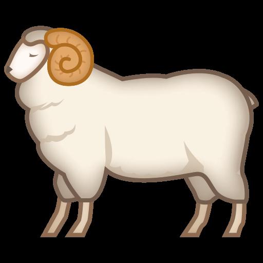 clip transparent download Ram animal clipart. Emoji for facebook email