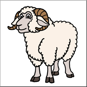 vector royalty free download Ram animal clipart. Free download best