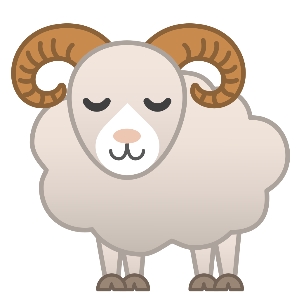 clip black and white stock Sheep transparent free for. Ram clipart.