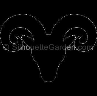 clip freeuse download Head silhouette clip art. Ram clipart.