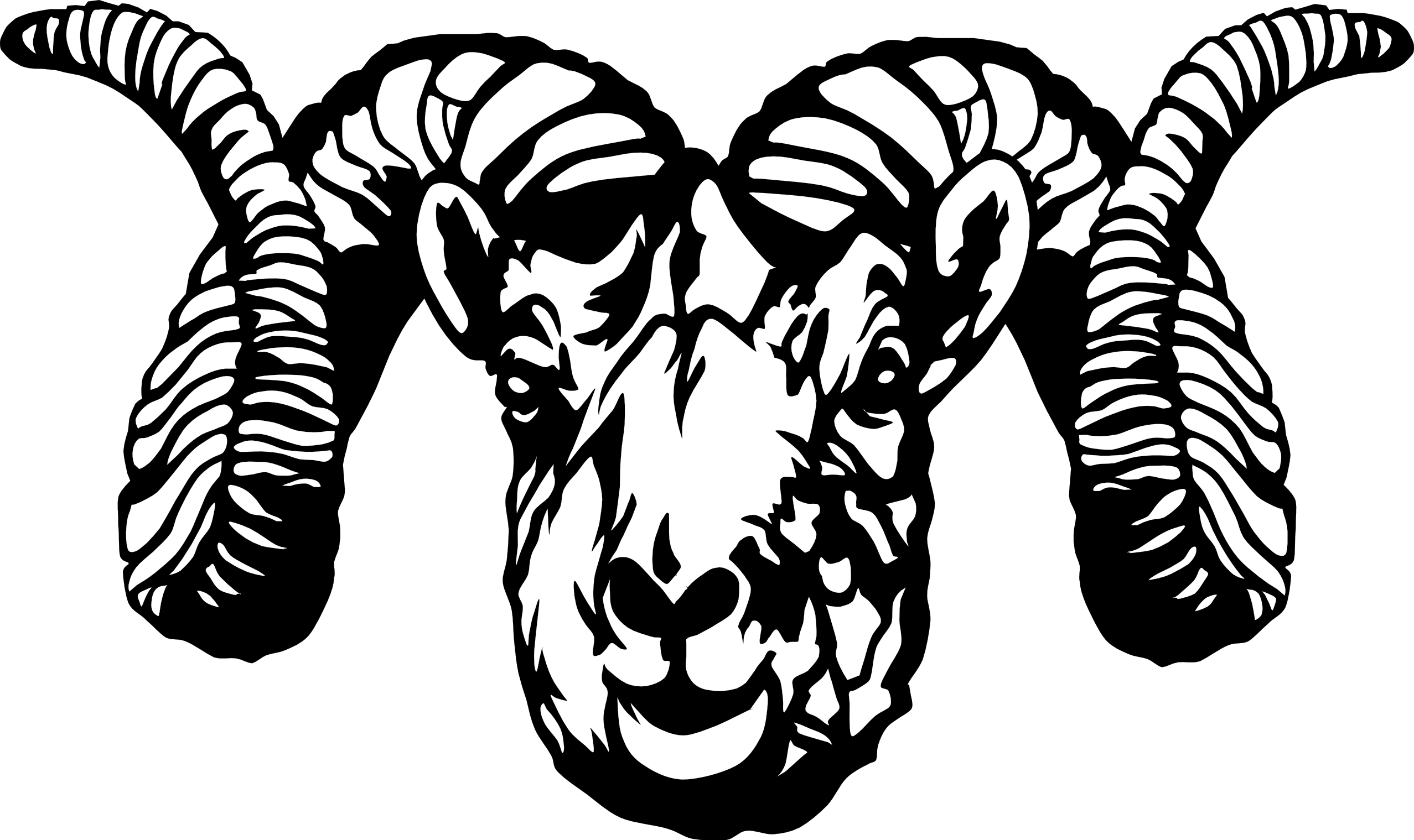 png download Panda free images clip. Ram clipart black and white