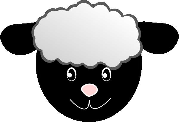 clipart stock Black Happy Sheep Clip Art at Clker