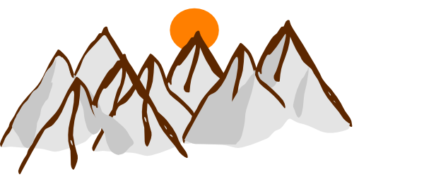 png black and white Mountain . Range clipart.