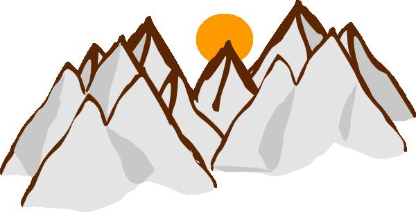 jpg stock Mountain Range Sunset Clip Art at Clker