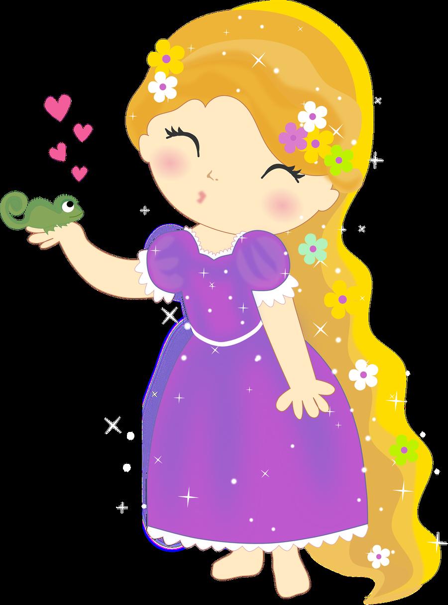 clip art royalty free download Little clipart rapunzel. Minus say hello fairy.