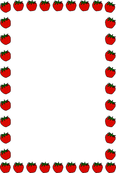 clip transparent library Strawberry Clipart Border