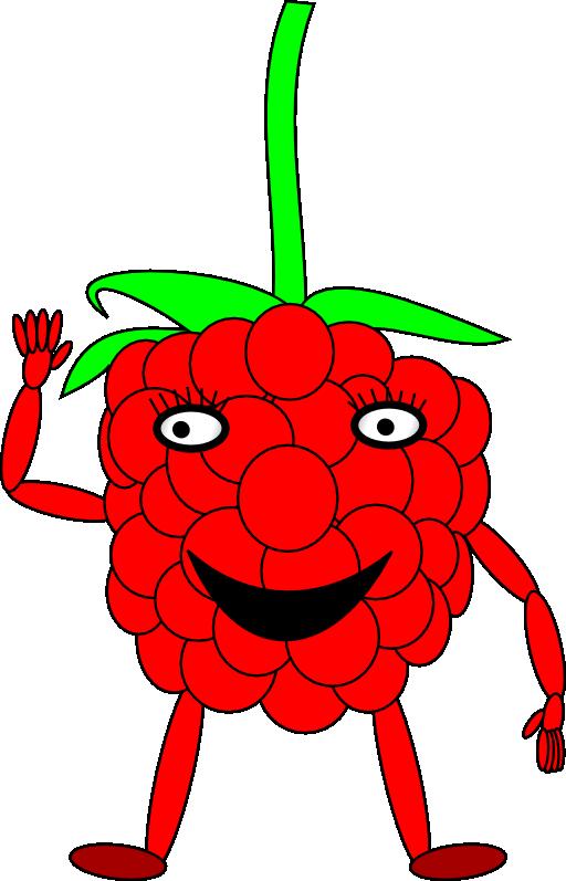 download Cartoon Raspberry Clipart