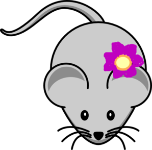 picture black and white download With flower clip art. Rat clipart.