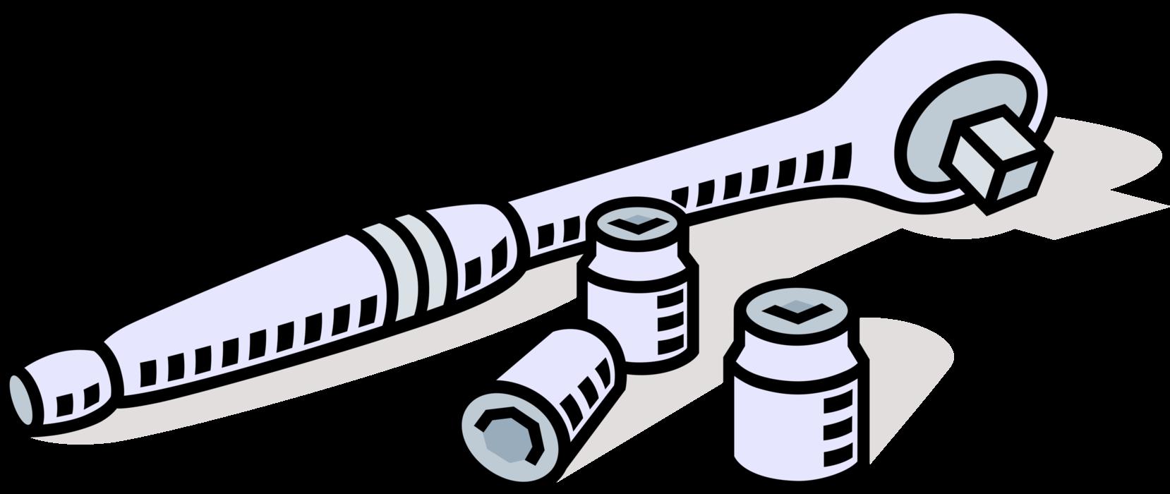 clipart stock Socket Wrench Ratchet