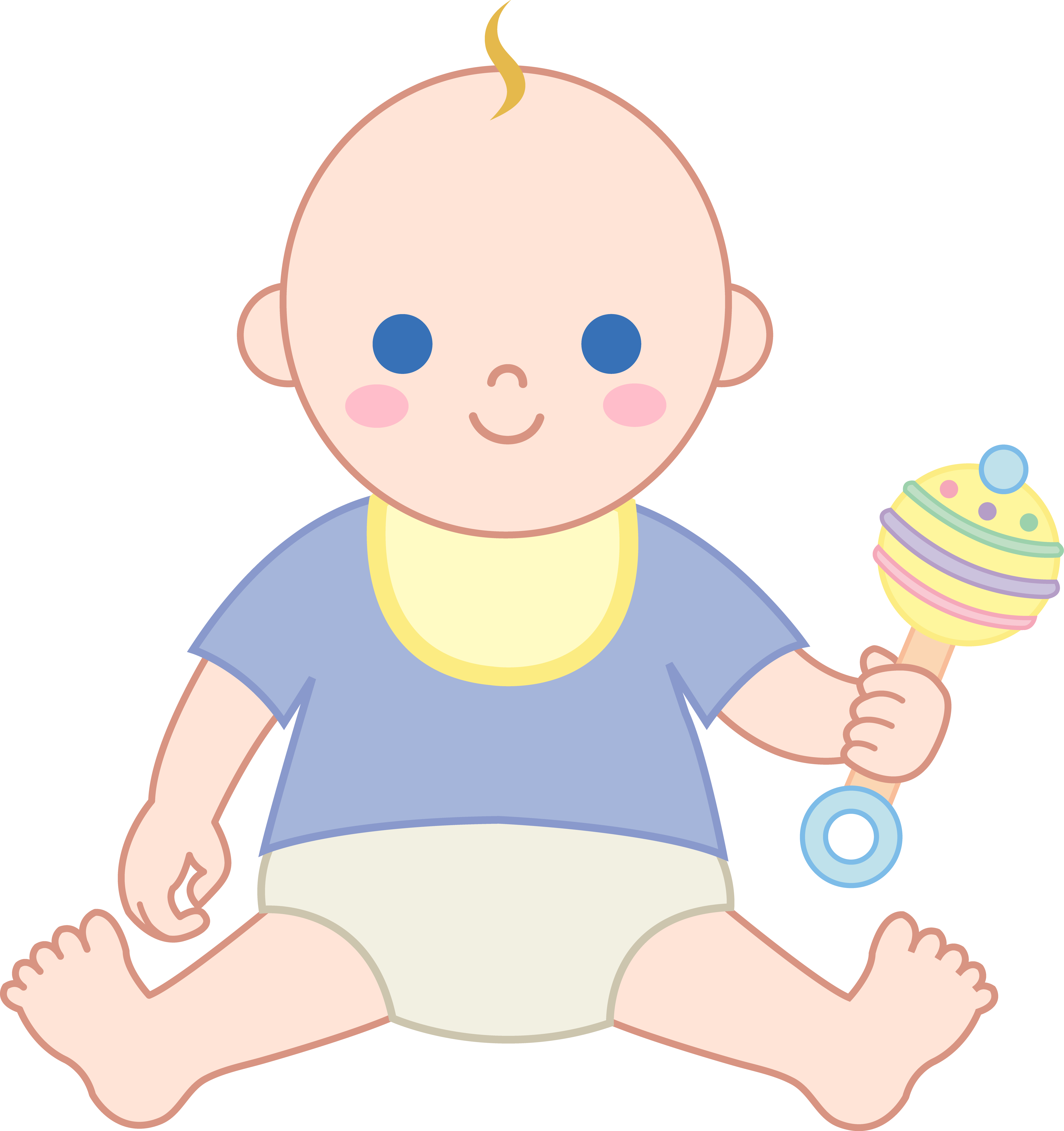 clipart transparent Baby boy with free. Rattle clipart.