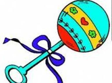 clip art freeuse download Rattle clipart. Free baby download clip.