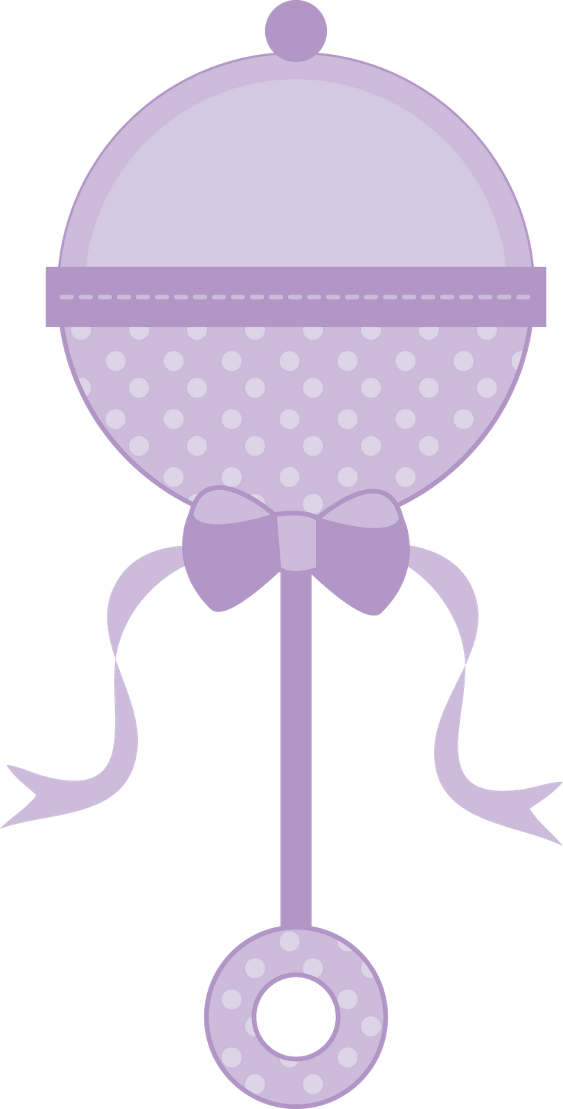 clip art royalty free stock Purple . Rattle clipart.