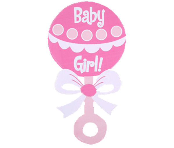 vector black and white Rattle clipart. Baby girl clip art.
