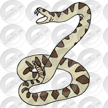 clip art free library Rattlesnake clipart. Picture for classroom therapy.