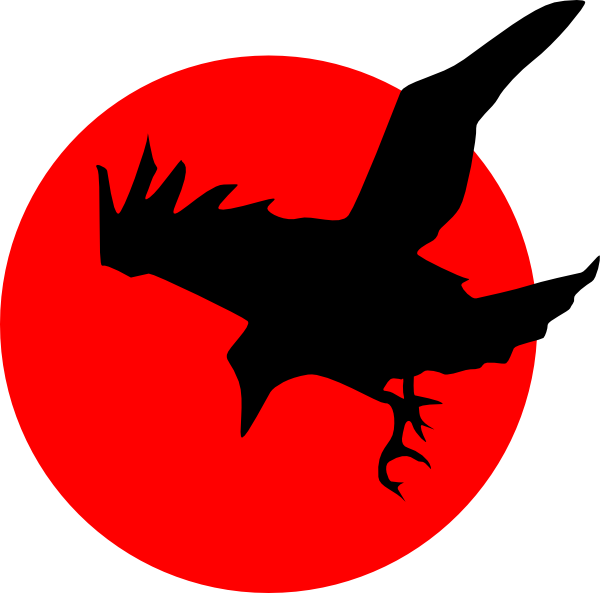 png black and white library Raven clipart. On red clip art.