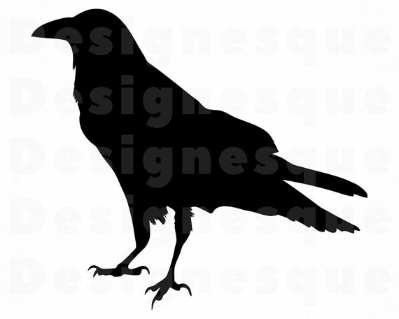 picture library download Silhouette svg crow files. Raven clipart.