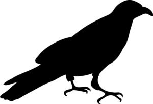 clip royalty free Raven clipart. Crow image silhouette of.