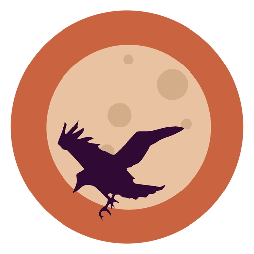 banner freeuse stock Flying raven circle icon