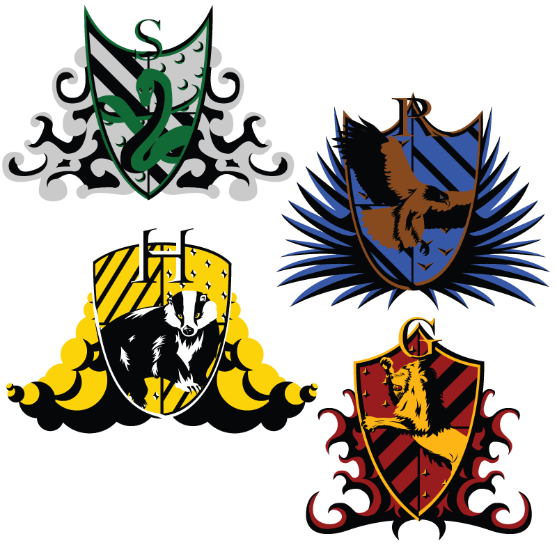 clip art transparent stock Hogwarts house crests by. Vector crest logos