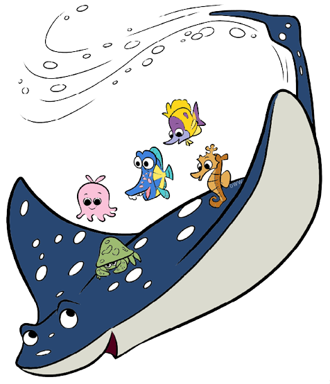 clip black and white stock Ray clipart. Group finding dory clip